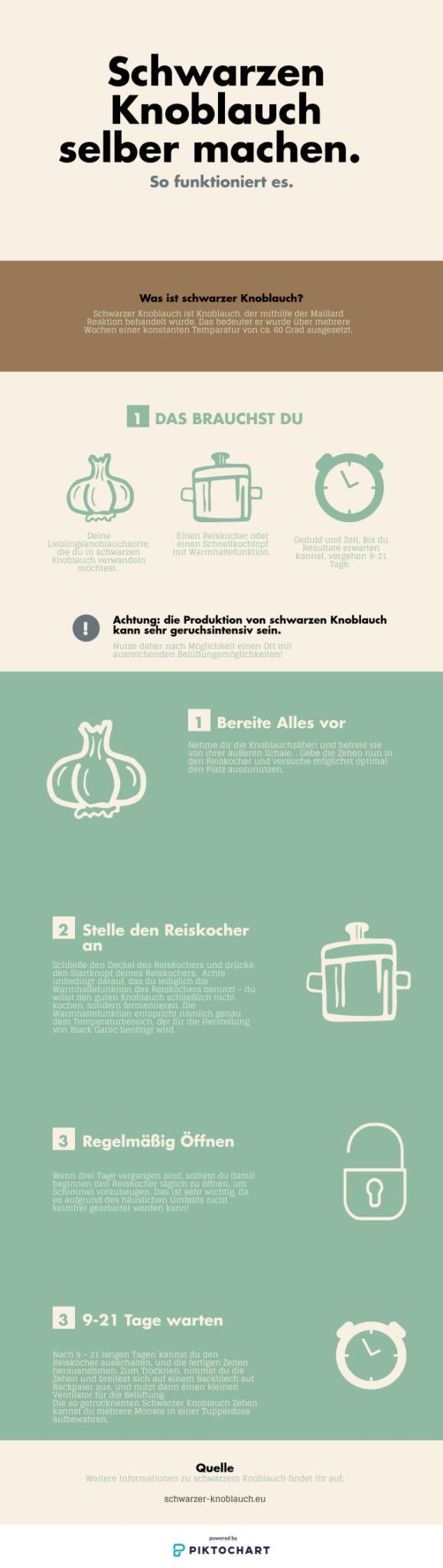 Schwarzer Knoblauch selber machen - Infografik